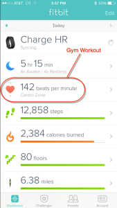 Fitbit Charge HR - iPhone App Dashboard